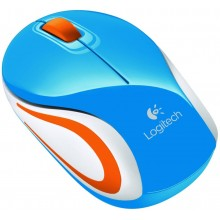 Mouse mini Wireless Logitech M187 (Azul)