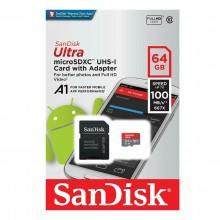 Memoria MicroSD 64GB 100MB/s Sandisk Ultra