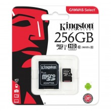 Memoria MicroSD 256GB 100MB/S Kingston