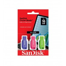 Pendrive 16GB Sandisk Cruzer Blade 3x1